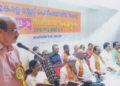പെന്ഷനേഴ്സ് സംഘ് സംസ്ഥാന സമ്മേളനം ബി.എം.എസ്. സംസ്ഥാന സെക്രട്ടറി എം.പി. രാജീവന് ഉദ്ഘാടനം ചെയ്യുന്നു.