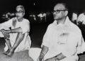 ദേവറസ്ജിയോടൊപ്പം ശ്രീ ഗുരുജിയുടെ ചിതയ്ക്കരികില്